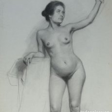 Arte: DESNUDO DE ACADEMIA - JOVEN MUJER - FINALES XIX O PPIOS. XX. Lote 277706173