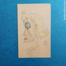 """Arte: F. VIDAL"""" CARICATURA FEMENINA"""" 1940. Lote 277716843"""