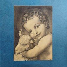 """Arte: RETRATO DE """"JESUS CON EL CARNERO""""ORIGINAL. Lote 277719933"""
