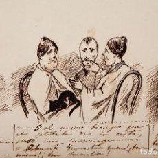 Arte: LOTE DE 8 DIBUJOS ANTIGUOS DEL AÑO 1863 REALIZADOS A PLUMILLA SIN FIRMAR.. Lote 277744028