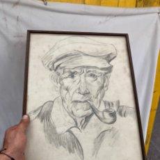 Arte: ANTIGUO DIBUJO-CARBONCILLO,DETRAS 1874!. Lote 278171098