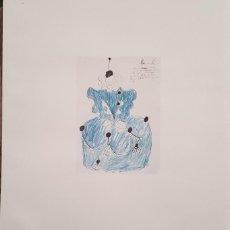 Arte: DIBUJO DE FEDERICO GARCIA LORCA LEONARDA . FASCIMIL NUMERADO Nº 621. Lote 278427813