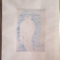 Arte: DIBUJO DE FEDERICO GARCIA LORCA EL JOVEN Y SU ALMA FACSIMIL NUMERADO Nº 621. Lote 278458158