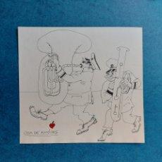 "Arte: CORNET"" COSA DE MUSICOS""ORIGINAL ILUSTRACION. Lote 278607573"