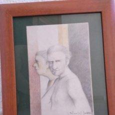 Arte: DIBUJO A LÁPIZ DEL PINTOR JOSÉ BETANZOS JIMÉNEZ. Lote 278833028