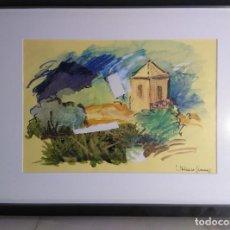 """Arte: DIBUJO CON TÉCNICA MIXTA Y """"COLLAGE"""" DEL PINTOR JOSÉ BETANZOS JIMÉNEZ. Lote 278834648"""