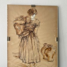 """Arte: ESTUDIO PREVIO PARA """"MOZA DEL CÁNTARO"""", DE FERNANDO CALDERÓN. Lote 278885763"""
