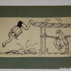 Arte: (M) DIBUJO ORIGINAL DE JOAN JUNCEDA - DIBUJO PARA ILUSTRAR UN CUENTO DE LA EDT MUNTAÑOLA, AÑOS 1915. Lote 279359433