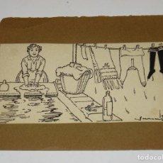 Arte: (M) DIBUJO ORIGINAL DE JOAN JUNCEDA - DIBUJO PARA ILUSTRAR UN CUENTO DE LA EDT MUNTAÑOLA, AÑOS 1915. Lote 279360708