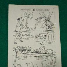Arte: BATLLORI JOFRE DIBUJOS ORIGINALES PARA LIBRO ESCOLAR DE EDITORIAL SALVATELLA.. Lote 283628593