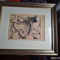 "Arte: OBRA DE ÓSCAR DOMÍNGUEZ. ""TAUROMAQUIA"". TINTA Y AGUADA PAPEL. 1956. Lote 286271918"