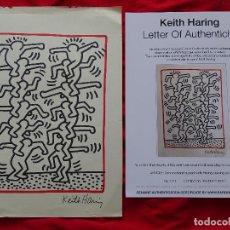 Art: KEITH HARING, DIBUJO FIRMADO A MANO -INTERÉS ANDY WARHOL, MIRO, DALI, REMBRANDT, CHILLIDA. Lote 286937253