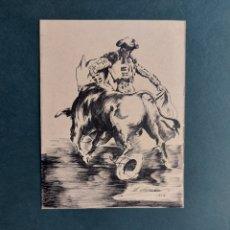 """Arte: L. SÁNCHEZ """" PASE DE TAUROMAQUIA"""" 1959. Lote 286953158"""