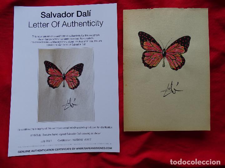 SALVADOR DALI, DIBUJO FIRMADO A MANO -INTERÉS ANDY WARHOL, MIRO, PICASSO, REMBRANDT, CHILLIDA (Arte - Dibujos - Contemporáneos siglo XX)