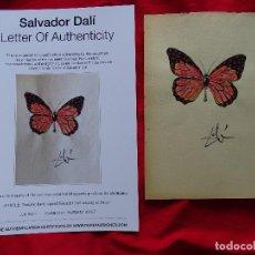 Arte: SALVADOR DALI, DIBUJO FIRMADO A MANO -INTERÉS ANDY WARHOL, MIRO, PICASSO, REMBRANDT, CHILLIDA. Lote 287356793