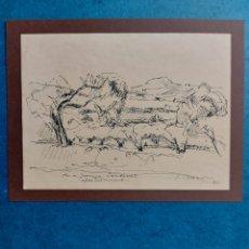 """Arte: S. BUSOM """"BOCETO RAPIDO DE PORT DE LA SELVA"""" 1996. Lote 287560448"""