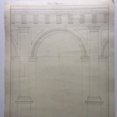 Arte: DIBUJO ORIGINAL .PORTICO CON PEDESTAL DORICO. FIRMADO. J. M. D´ABREU ( JOSÉ MIGUEL DE ABREU ),. Lote 287596798