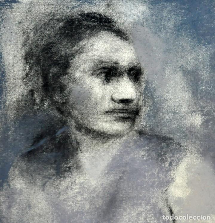 Arte: ERNESTO FONTECILLA (SANTIAGO DE CHILE, 1938) DIBUJO A PASTEL FECHADO DEL AÑO 1988. PERSONAJES - Foto 3 - 287654878