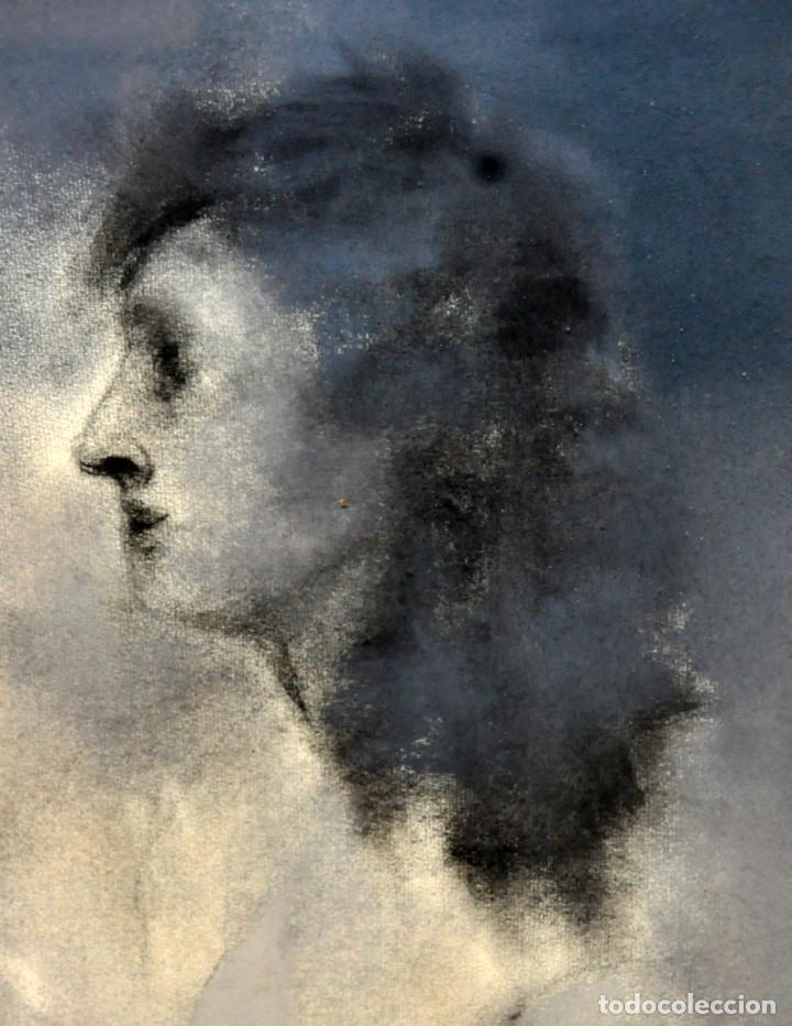 Arte: ERNESTO FONTECILLA (SANTIAGO DE CHILE, 1938) DIBUJO A PASTEL FECHADO DEL AÑO 1988. PERSONAJES - Foto 4 - 287654878
