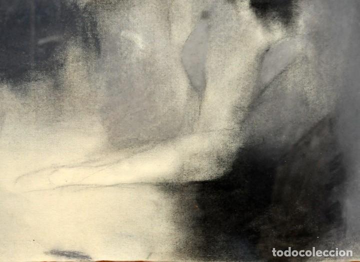 Arte: ERNESTO FONTECILLA (SANTIAGO DE CHILE, 1938) DIBUJO A PASTEL FECHADO DEL AÑO 1988. PERSONAJES - Foto 5 - 287654878