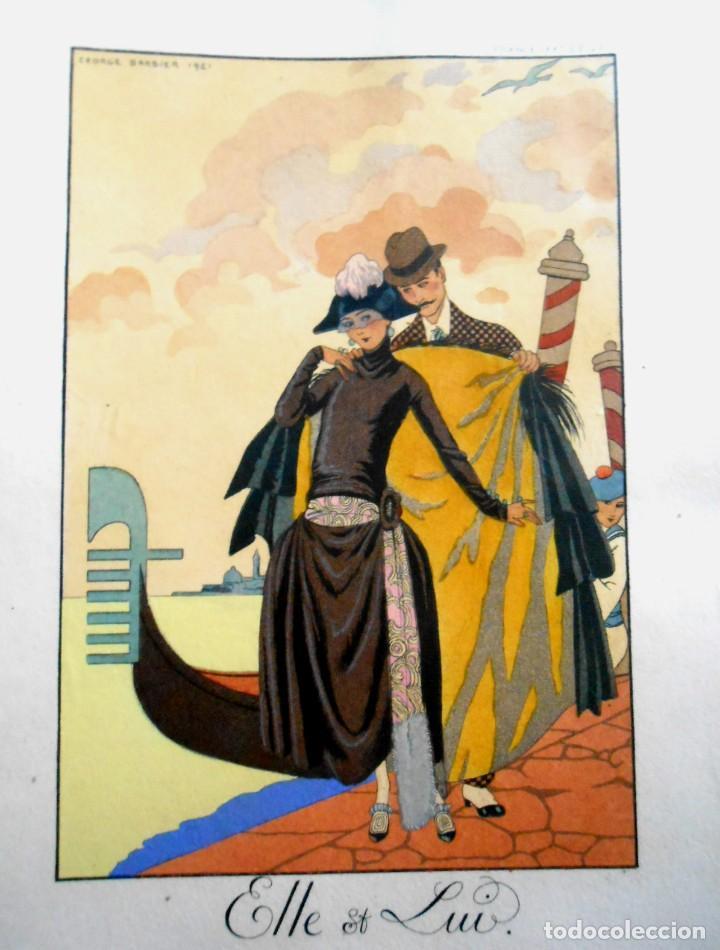 VENECIA - ELLE ET LUI - LITOGRAFÍA BARBIER 1921 (Arte - Dibujos - Contemporáneos siglo XX)