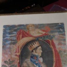 Arte: ANTIGUO RETRATO DE FERNANDO VII, PINTADO SOBRE PAPEL Y COLOREADO. Lote 287780403