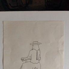 Arte: JOAN RIERA FERRARI DIBUJO TINTA MUJER MALLORQUINA FIRMADO Y FECHADO... Lote 288001573