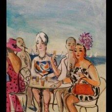 """Arte: DIBUJO PINTURA """"EL REFRIGERIO"""" (1968), POR JOSÉ DE ZAMORA. Lote 288038353"""