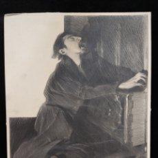 Arte: DIBUJO ORIGINAL MANUEL FELIU DE LEMUS ( 1865-1922). Lote 288065833