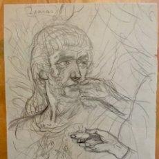 Arte: JOSÉ SEGRELLES. BOCETO A LAPIZ. APUNTES DEL ARTISTA SIGLO XIX ISAIAS MISTICA. AÑOS 40. Lote 288399503