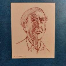 """Arte: P. SERRA """" APUNTE RAPIDO ROSTRO PERSONAJE"""" 1949. Lote 288480493"""