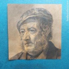 """Arte: """"RETRATO PESCADOR EPOCA"""" 1885. Lote 288484393"""