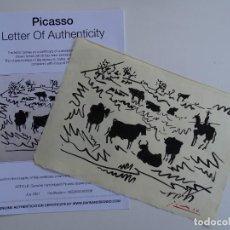Arte: PABLO PICASSO, DIBUJO FIRMADO A MANO -INTERÉS ANDY WARHOL, MIRO, DALI, REMBRANDT, CHILLIDA. Lote 288700668