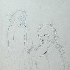 Arte: JOSEP MOMPOU - DIBUJO SOBRE PAPEL - FIRMADO Y FECHADO. Lote 288706773