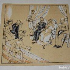 Arte: DIBUJO ORIGINAL DE XAVIER NOGUÉS - ILUSTRACIÓN LIBRO EDITORIAL MUNTAÑOLA AÑOS 195/20. Lote 288899333