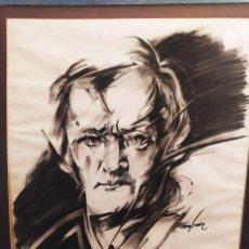 Arte: GRANDE DIBUJO AL CARBÓN XX. Lote 288995453
