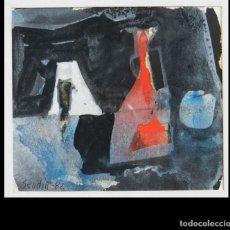 "Arte: PINTURA DIBUJO ""COMPOSICIÓN"" (1982), POR ARMANDO SENDIN (1925.2020). Lote 288995558"