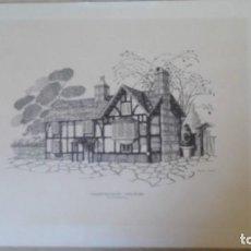 Arte: LÁMINA REPROD.,MAMMLING HOUSE STRATFORD,OLD TUDOR STYLE-REUBEN SEARF.-AÑOS 90.. Lote 289365573