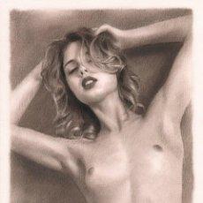 Arte: DIBUJO ARTÍSTICO DESNUDO ERÓTICO PIN UP POLONIA. Lote 289546583