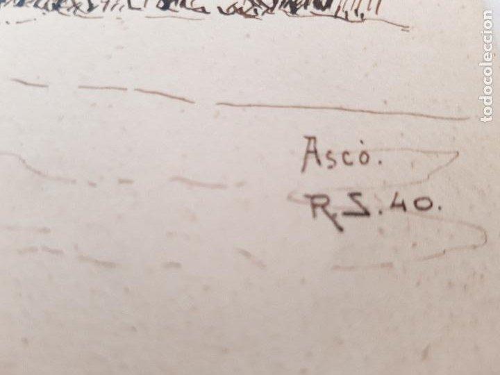 Arte: ERMITA DE SAN MIGUEL- ASCO TARRAGONA FIRMADO R.SUAREZ 1940 - Foto 2 - 289602978