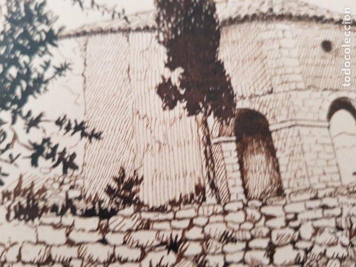 Arte: ERMITA DE SAN MIGUEL- ASCO TARRAGONA FIRMADO R.SUAREZ 1940 - Foto 4 - 289602978