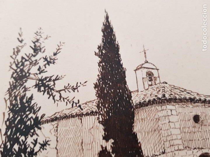 Arte: ERMITA DE SAN MIGUEL- ASCO TARRAGONA FIRMADO R.SUAREZ 1940 - Foto 5 - 289602978