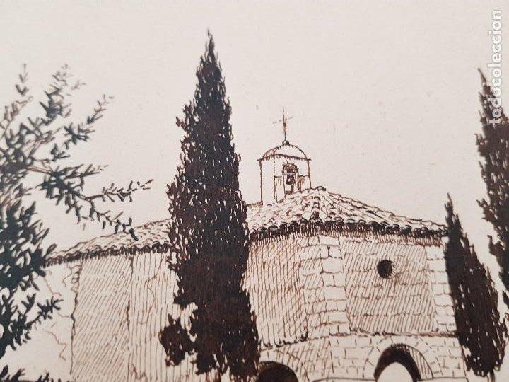 Arte: ERMITA DE SAN MIGUEL- ASCO TARRAGONA FIRMADO R.SUAREZ 1940 - Foto 6 - 289602978