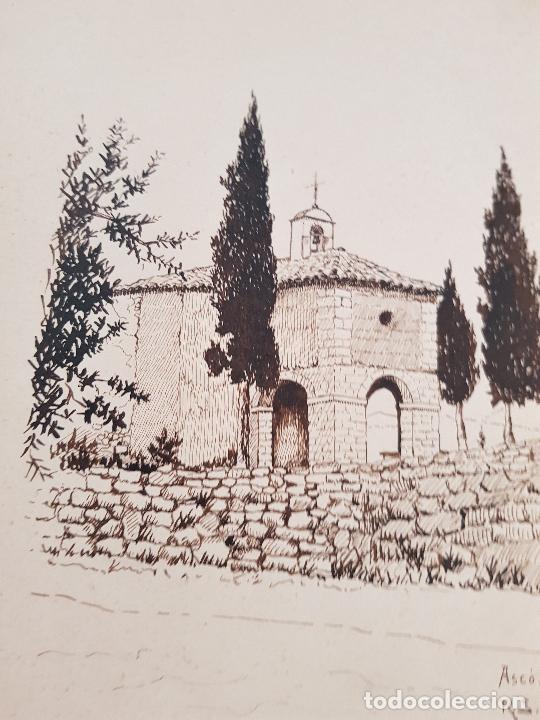 Arte: ERMITA DE SAN MIGUEL- ASCO TARRAGONA FIRMADO R.SUAREZ 1940 - Foto 7 - 289602978