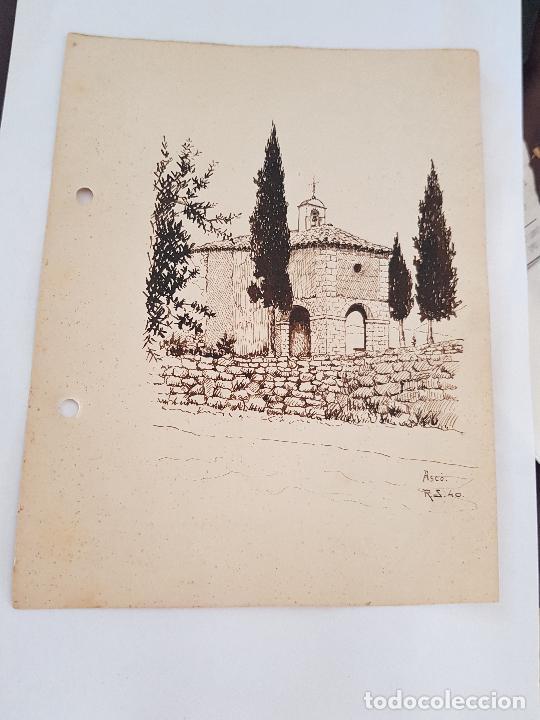 Arte: ERMITA DE SAN MIGUEL- ASCO TARRAGONA FIRMADO R.SUAREZ 1940 - Foto 8 - 289602978