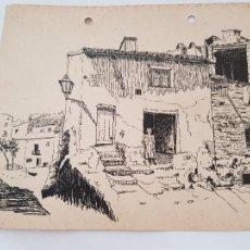Arte: ALGUN PUEBLO DE TARRAGONA FIRMADO R.SUAREZ 1940. Lote 289603348