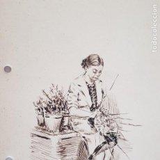 Arte: MUJER AMA DE CASA FIRMADO JUAN SUAREZ. Lote 289604188