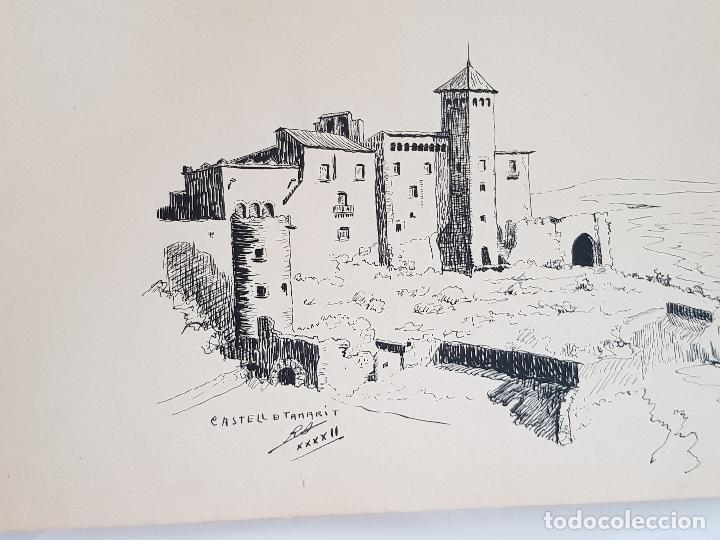 CASTELL DE TAMARIT TARRAGONA FIRMADO JUAN SUAREZ (Arte - Dibujos - Modernos siglo XIX)