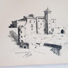 Arte: CASTELL DE TAMARIT TARRAGONA FIRMADO JUAN SUAREZ. Lote 289604748