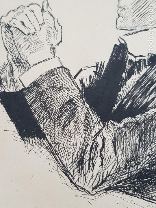 HOMBRE REZANDO (Arte - Dibujos - Modernos siglo XIX)
